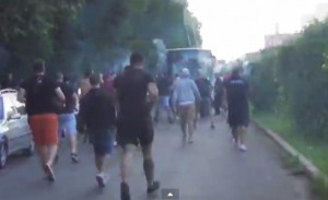 """Видео: Сектор """"Г"""" гони феновете на Зимбру"""